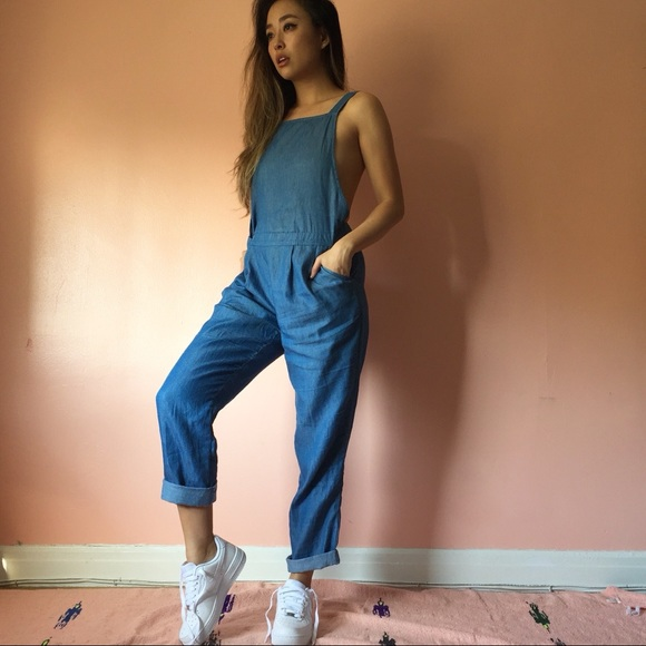 Nasty Gal Denim - Nasty Gal Chambray Overalls